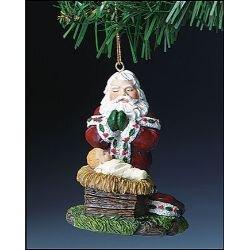Adoring Santa Ornament - 12/pk
