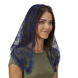 Traditional Chapel Veil - Blue - 2/pk