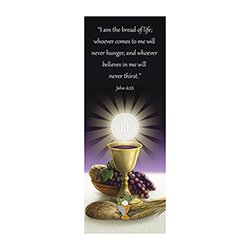 Bread of Life First Communion Lapel Pin with Bookmark - 12/pk