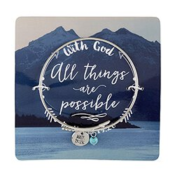 With God All Things are Possible Arrow Bangle Bracelet