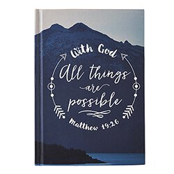 With God All Things are Possible Journal - 12/pk