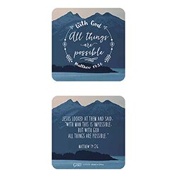 With God All Things are Possible Arrow Key Chain with Card