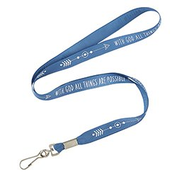 With God All Things are Possible Lanyard - 24/pk