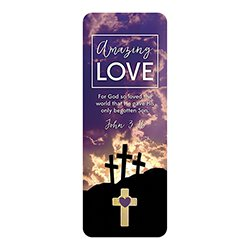 Amazing Love Lapel Pin with Bookmark - 12/pk