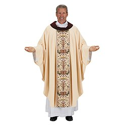 Coronation Collection Cowl Neck Chasuble - Ivory