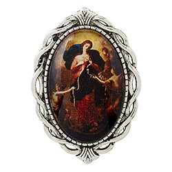 Mary, Untier of Knots Ornate Lapel Pin - 12/pk