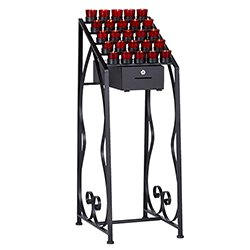 Votive Stand with Locking Offering Box - 25-Cup