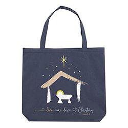 Love Came Down Christmas Tote Bag - 12/pk