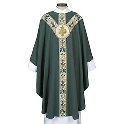 Coronation Collection Semi-Gothic Chasuble - Green