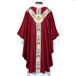 Coronation Collection Semi-Gothic Chasuble - Red