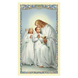 Traditional Memories First Communion Holy Card - 100/pk