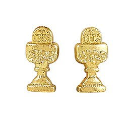 Traditional Memories First Communion Chalice Earrings - 12 pr/pk