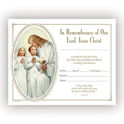 Traditional Memories First Communion Certificate - 100/pk