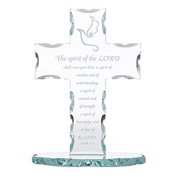 The Spirit of the Lord Standing Glass Cross