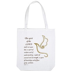 Spirit of the Lord Confirmation Tote Bag with Inside Pocket - 12/pk