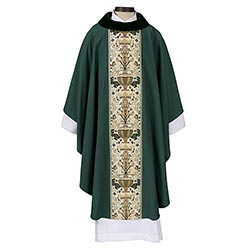 Coronation Collection Cowl Neck Chasuble - Green