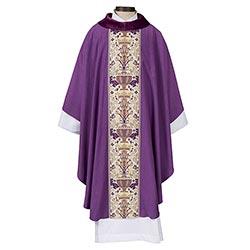 Coronation Collection Cowl Neck Chasuble - Purple
