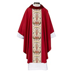 Coronation Collection Cowl Neck Chasuble - Red