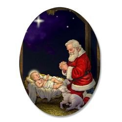 Adoring Santa Christmas Magnet - 36/pk