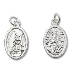 St Michael/Guardian Angel Mini Devotional Medal - 100/pk