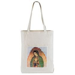 Our Lady of Guadalupe Tote Bag with Pocket - 12/pk