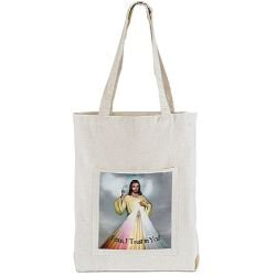 Divine Mercy Tote Bag with Pocket - 12/pk