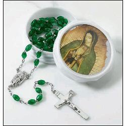 Our Lady of Guadalupe Rosary with Two-Piece Case - 6/pk
