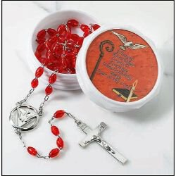 Confirmation (Holy Spirit) Rosary with Two-Piece Case - 6/pk