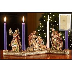 Nativity Advent Candleholder