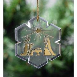 Nativity Snowflake Ornament - 48/pk