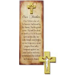 Our Father Lapel Pin with Bookmark - 12/pk