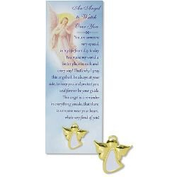 An Angel to Watch Over You Lapel Pin with Bookmark - 12/pk