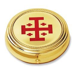 Jerusalem Cross Hospital Pyx - 2/pk