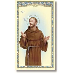 St. Francis of Assisi Holy Card - 100/pk
