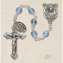 Prague Collection 6 mm AB Crystal Rosary - Crystal