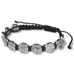 St. Benedict Medal Bracelet - Black - 12/pk