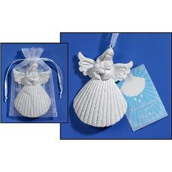 Baptism Shell Angel Keepsake