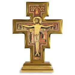 Standing San Damiano Crucifix  - Removable Base