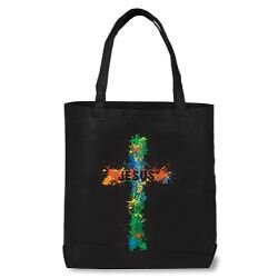 Jesus Cross Teen Bible Tote Bag