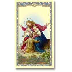Christ with Children Holy Card - 100/pk