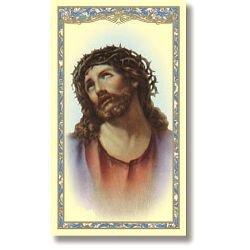 Head of Christ (Ecce Homo) Holy Card - 100/pk