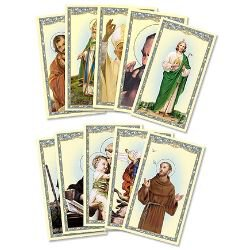 Men Saints Holy Card Assortment - 100/pk