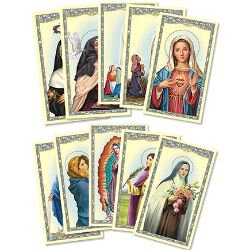 Women Saints / Madonnas Holy Card Assortment - 100/pk