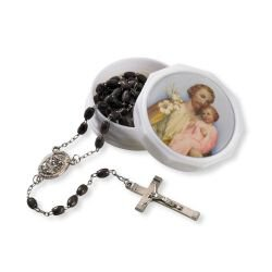 St. Joseph Rosary with Two-Piece Case - 6/pk