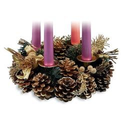 Pine Cone Advent Wreath  -  3/pk