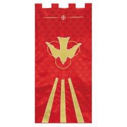 Maltese Jacquard Banner - Red