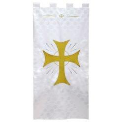 Maltese Jacquard Banner - White