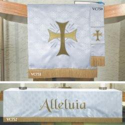 Maltese Jacquard  Custom Bookmark - White