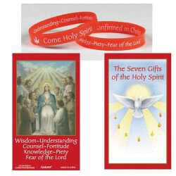 Silicone Gifts of the Holy Spirit Bracelet with Card - 24/pk