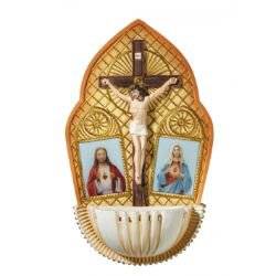Sacred Hearts Holy Water Font